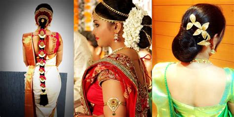 Wedding Hairstyles For Different Dress Types by Different Types Of Kerala Wedding Hairstyles For