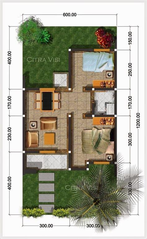 denah rumah minimalis tipe  ukuran    anderson   minimalist house design house