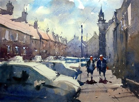watercolour demonstration by tim wilmot how to paint cars and 6