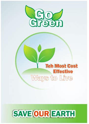cara membuat iklan terbaik membuat desain poster go green lingkungan hidup di