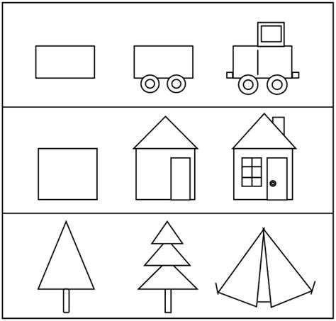 draw shapes pre writing skills for preschoolers drawing with shapes
