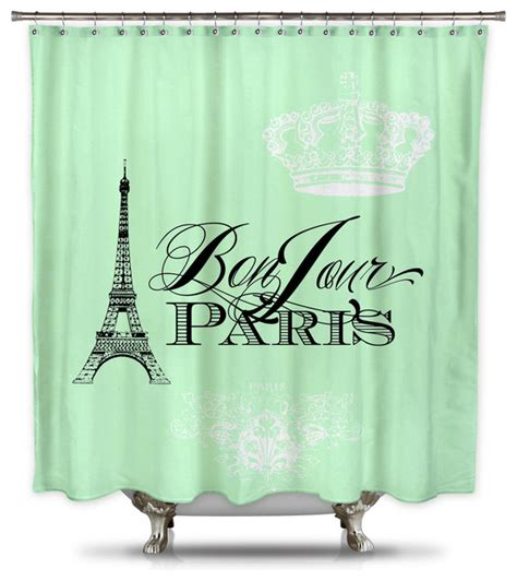 mint green shower curtain fabric catherine holcombe bonjour paris mint green fabric shower