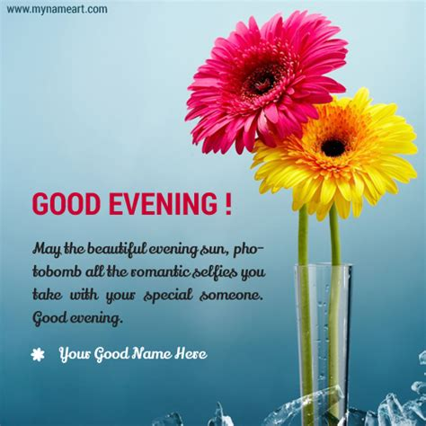 beautiful greeting cards with my name and lover evening wishes with name pictures