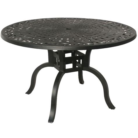 Oakland Living Hton Aluminum 48 In Dia Round Patio 48 Patio Table