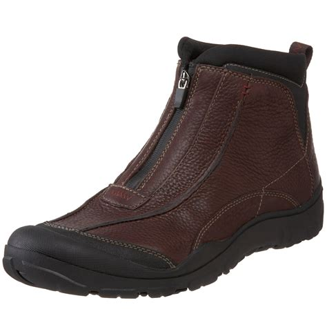 mens boots with clarks clarks mens desoto front zip boot in brown for