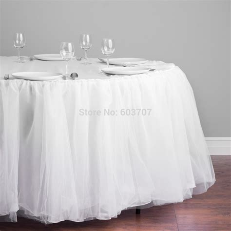tulle table skirt for sale aliexpress com buy free shipping tulle tutu organza