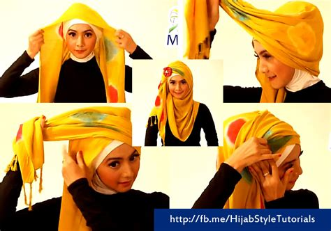 tutorial hijab simple resmi tutorial hijab model pasmina rajut simple elegan