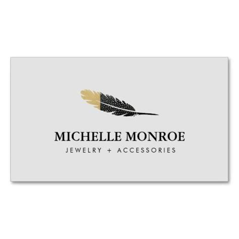 jewelry business card templates cool bohemian feather jewelry boutique gray business card