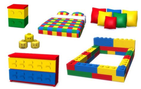 lego bedroom furniture lunararc sims lego bedroom set sims 4 downloads