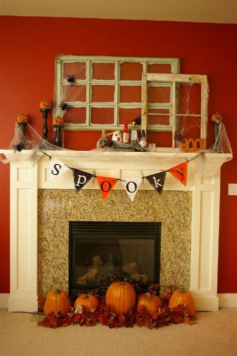 fireplace mantel decorating ideas home adorable fireplace design and decoration using halloween
