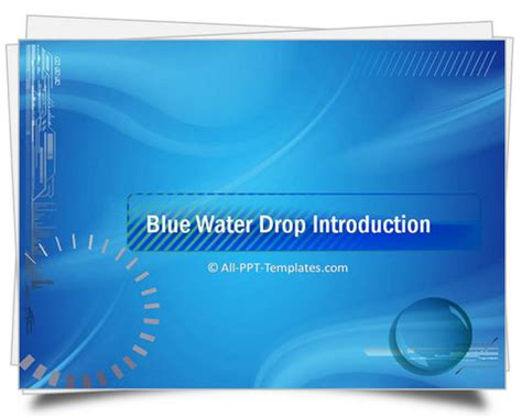 themes for professional ppt powerpoint water drop intro template