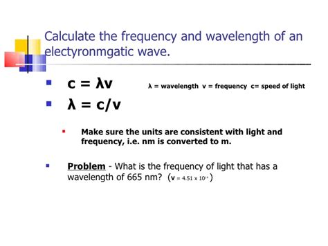 frequency of light calculator my slideshow problems from chang
