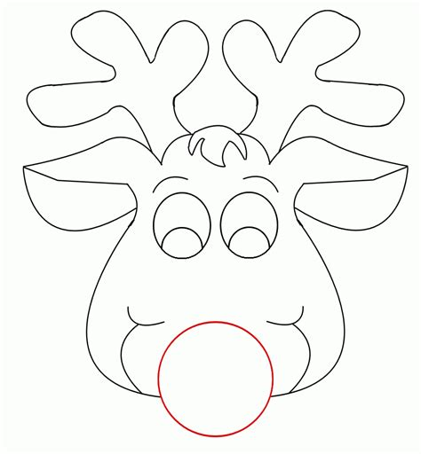 Reindeer Coloring Pictures by Reindeer Coloring Pages Coloring Home