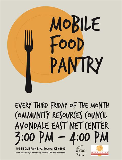 mobile food mobile food pantry community resources council