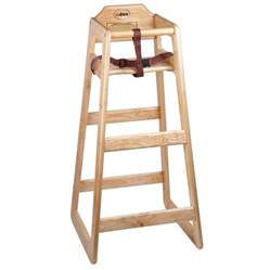 Stacking restaurant wooden pub height high chair unassembled