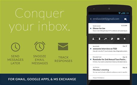 email application for android email app for gmail exchange play de android uygulamaları