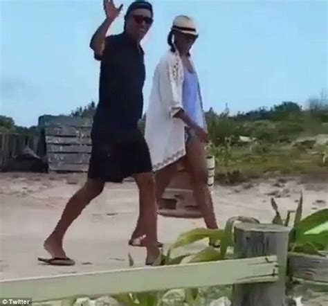 michelle obama necker island pictured the obamas enjoying a break on necker island