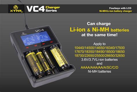 Charger Baterai Universal 18650 26650 16340 14501 xtar vc4 ladeger 228 t f 252 r li ion 3 6v 3 7v und nimh akkus