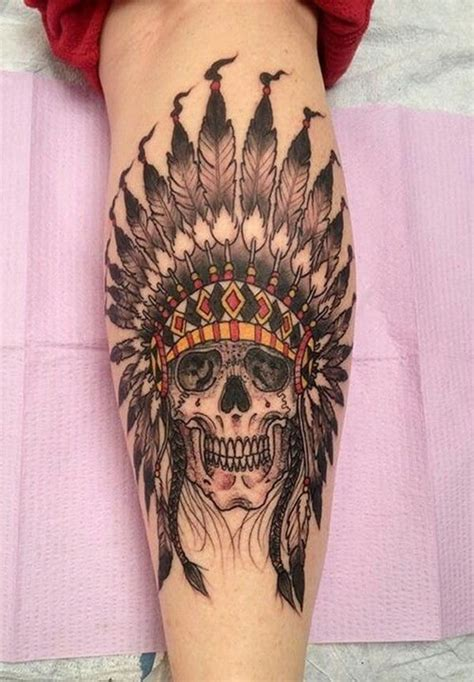 native american skull tattoo 75 amazing american tattoos for a tribal look
