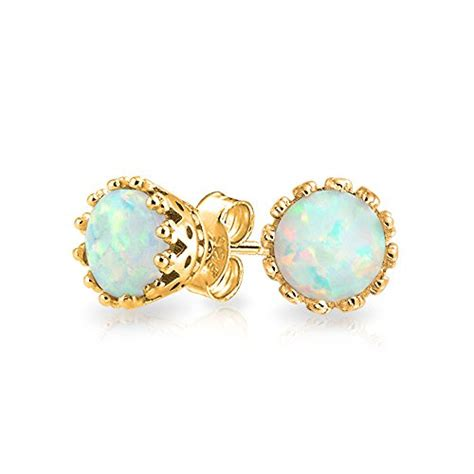 october birthstone white opal sterling silver stud birthstone for october meaning colors and jewelry