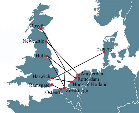map uk ferry routes uk ferry crossings map