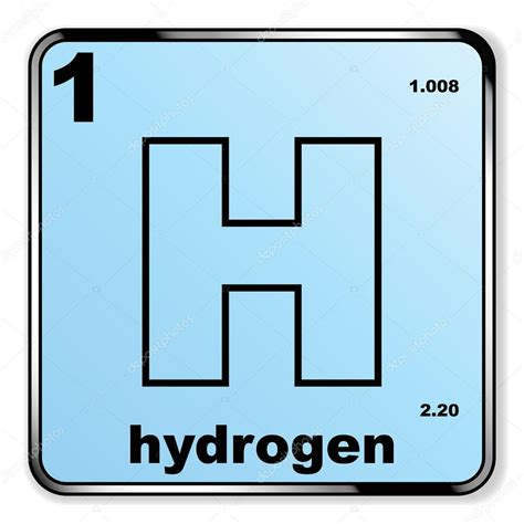idrogeno da tavola periodica vettoriali stock