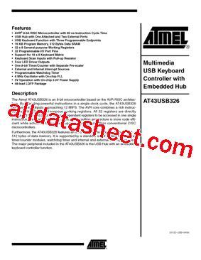 326 transistor datasheet at43usb326 06 データシート pdf atmel corporation