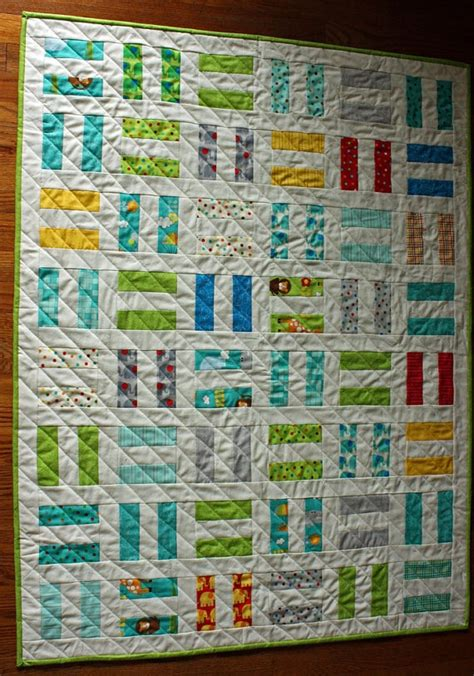 Rail Fence Baby Quilt Pattern by Modern Baby Quilt For Boy Or In Moda Bungle Jungle