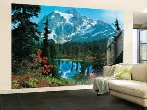 Wall Paper Murals Mountain Morning Huge Wall Mural Art Print Poster