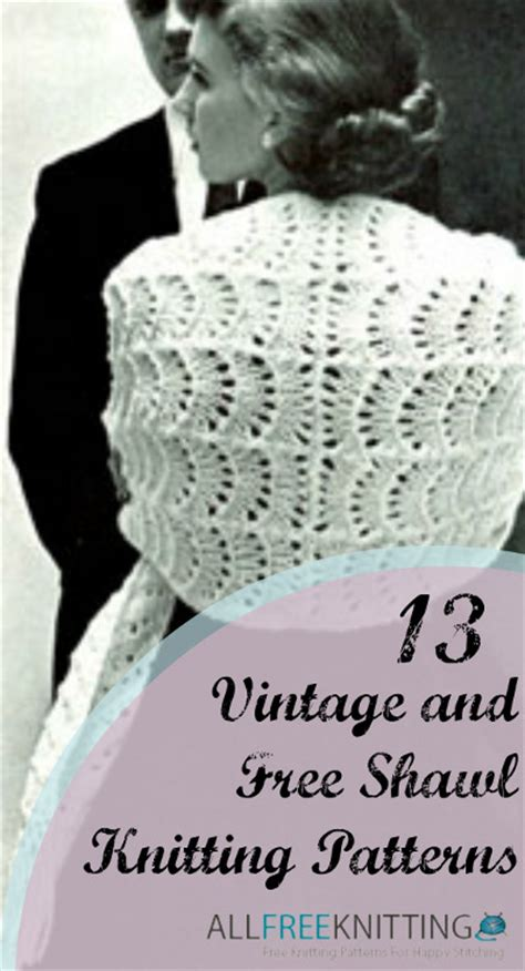 vintage knitted patterns 13 vintage and free shawl knitting patterns