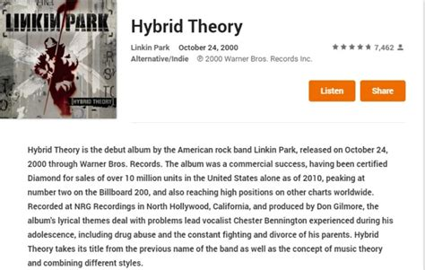 linkin park hybrid theory mp3 download deal get linkin park s hybrid theory album for free on