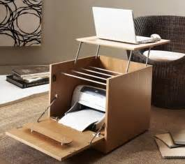Creative Desk Ideas For Small Spaces Creative Portable Home Office Desk With Printer Storage For Small Home Office Spaces Ideas