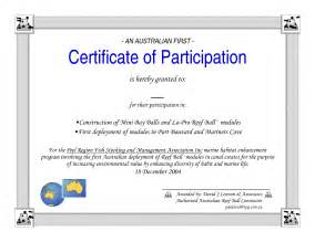 participation certificate template best photos of pageant certificate of participation
