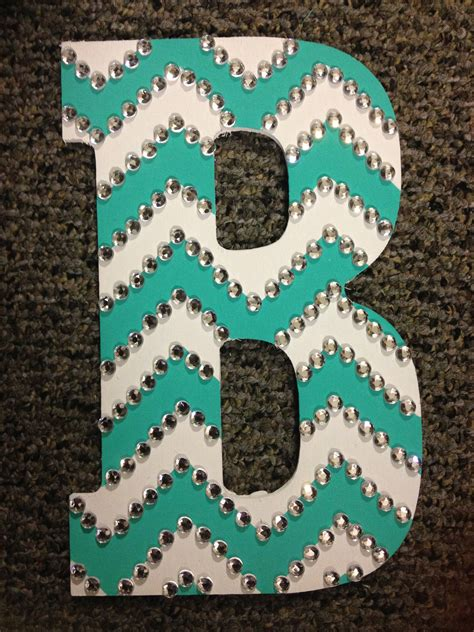 Letter Painting Rhinestoned Chevron Letter Gettin Crafty Sorority Style