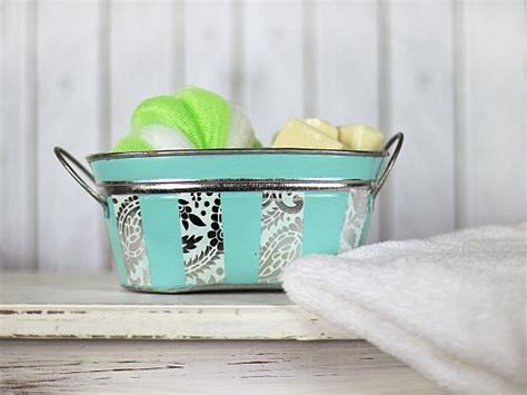 metallic paper oval storage container project  decoart
