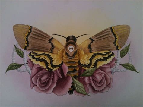 silence of the lambs moth tattoo s moth and roses