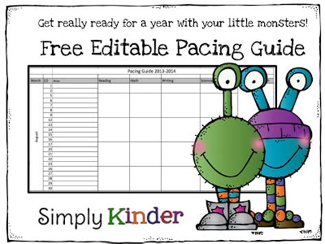 freebielicious free editable pacing guide