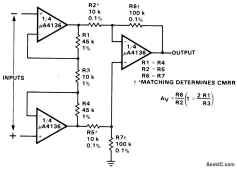 integrated circuit instrumentation lifier differential input instrumentation lifier with high common mode rejection lifier circuit