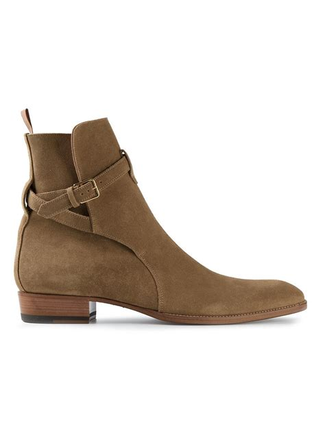 Handcrafted Footwear - handmade jodhpur leather boots khaki leather boots