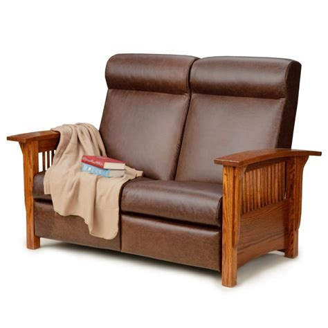 lane mission recliner mission reclining love seat amish mission reclining love
