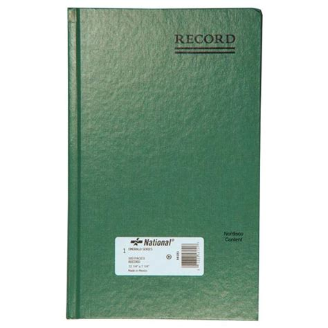 record book national brand 56 151 record book 500 pages emerald
