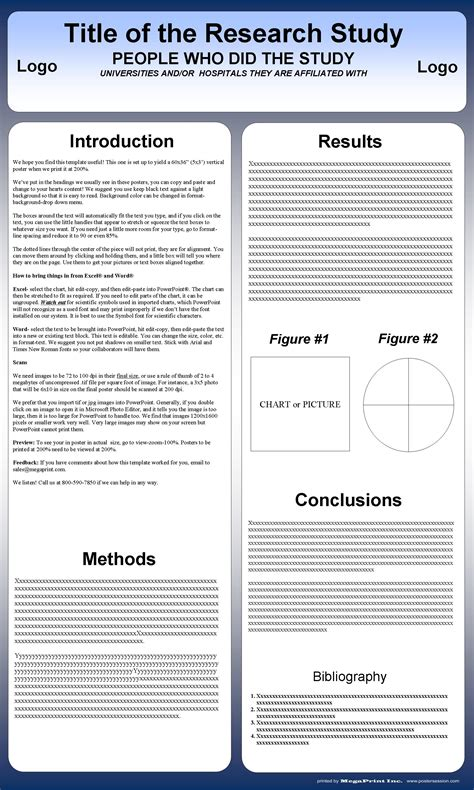 Vertical Poster Templates For Free Postersession Powerpoint Research Poster Template