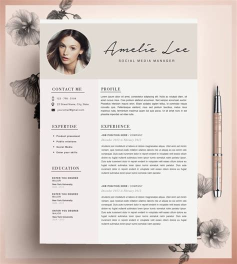 unique resume templates creative resume template cv template instant by cvdesignco