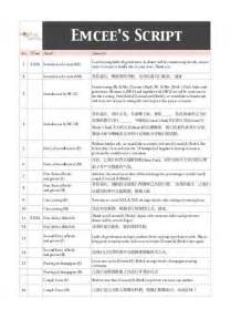 wedding mc checklist template 17 yam seng toast e now
