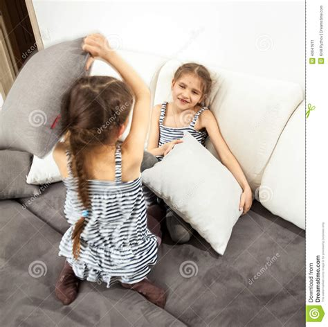Animal House Pillow Fight by Pillow Fight On Bed Stock Photo Image 40641911