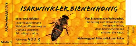 Honig Etiketten Selbstklebend by Honigetiketten Selbstklebende Etiketten Gt Mit Wasser