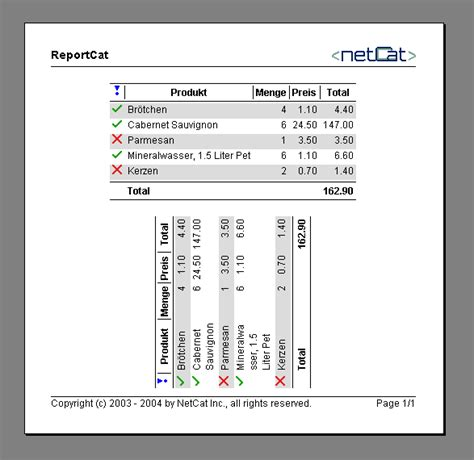 layout print java java report print library reportcat the printing and