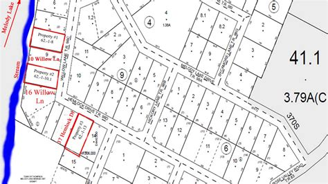 property lines map cheap land 3 building lots for 10k water sewer electric at property line