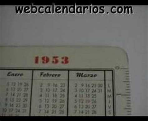 Calendario De 1953 Calendario Fournier Cinzano 1953