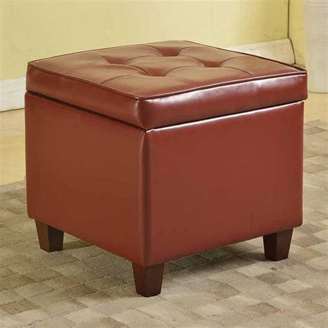 Homepop Storage Ottoman Homepop Faux Leather Storage Ottoman Leather Sofa Guide
